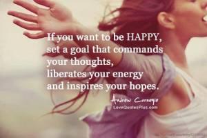 be happy set goals