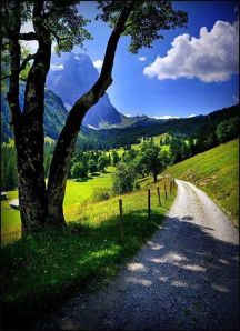 beautiful mountain path