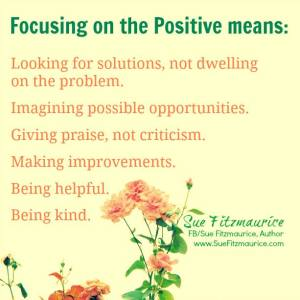 being positive means