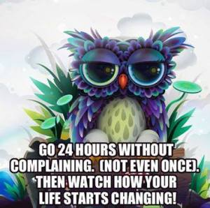 go without complaining