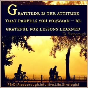 gratitude is the attitude that propels you forward