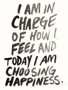 I am in charge and I am choosing