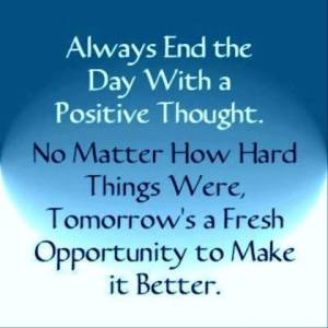 positive thought to end the day