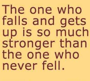 the one who falls and gets up