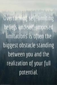 overcoming self limiting beleifs