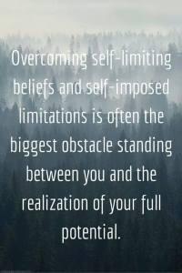 overcoming self limiting beleifs