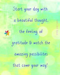 start your day with gratitude