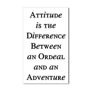 attitude difference between ordeal and adventure