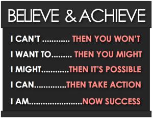 Believe-Achieve