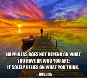 happiness relies on what you think