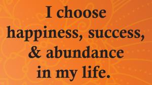 i choose success...