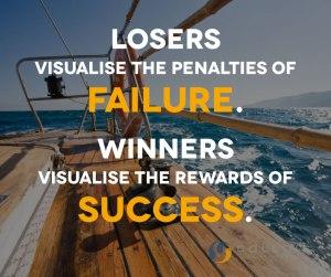 losers visualize penalities winners rewards