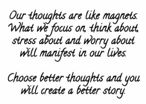 our thoughts are like magnets