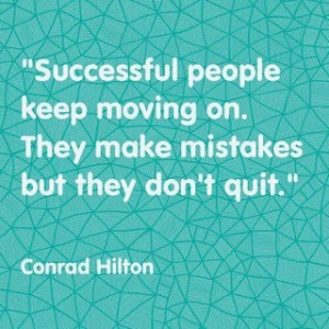successful people keep moving on