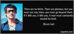 there are no limits bruce lee