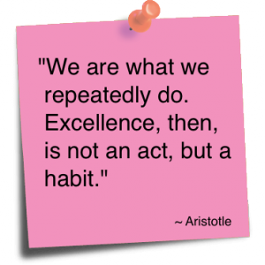 we are what we repeatedly do Aristotle