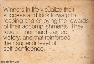 winners visualize and look forward