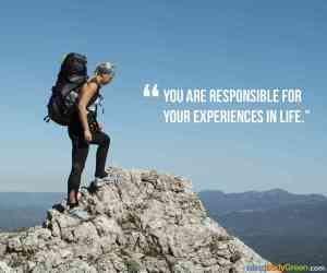 you are responsible for your experinces