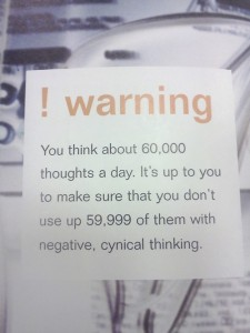 60,000 thoughts a day don't waste