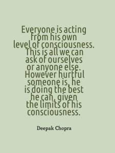 acting according to own consciousness