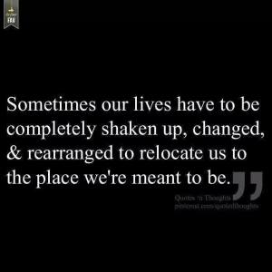 sometimes we need to be shaken up