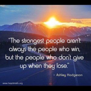 strongest people don't give up