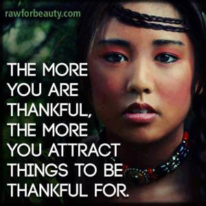 the more u are thankful