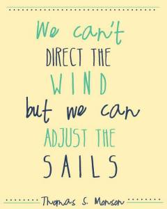 we cant direct the wind