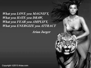 what you love you magnify