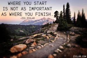 where u start not as important as where u finidh
