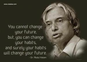 your habits will change your future