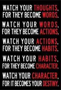 your thoughts become words