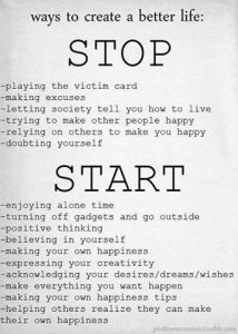 stop being victim start living strong