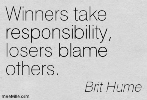 winners take responsibility