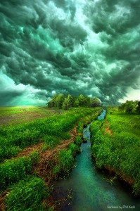 Phil koch green sky grass and creek
