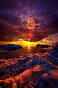 horizon multicolor beach