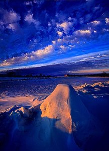 horizons blue and pink ice